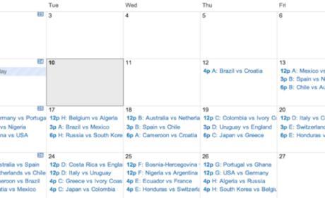Calendario partidos Mundial 2014