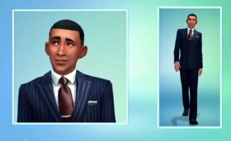 Barack Obama en Sims 4