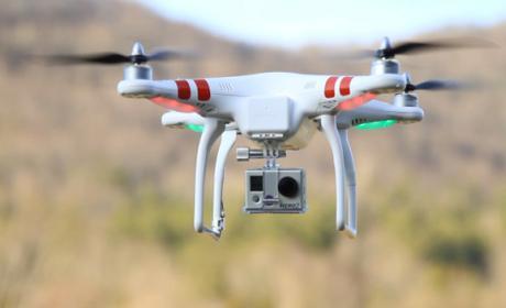 policía detiene drone