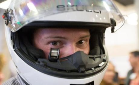 Casco de moto HUB con Android