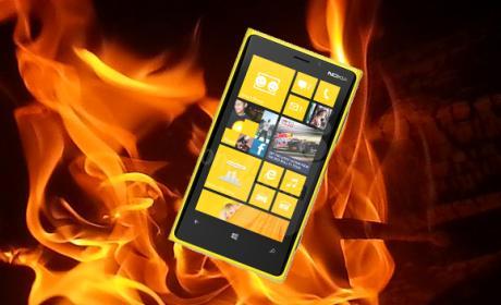 Nokia Lumia 920 arde