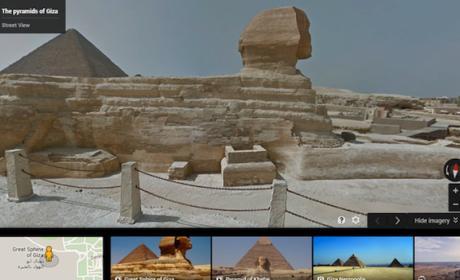 Google Street View te lleva ya al Antiguo Egipto desde casa