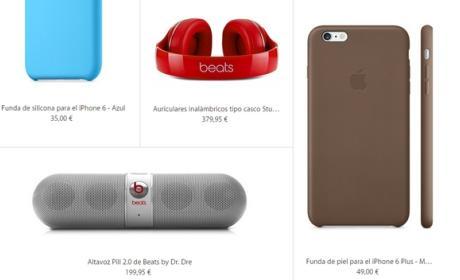 Fundas oficiales de iPhone 6 y iPhone 6 Plus y complementos oficiales (precios).