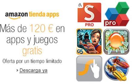 Amazon España, a través de su Tienda de Apps, regala apps y juegos Android de pago, gratis, por valor de 120€ ¡Corre!