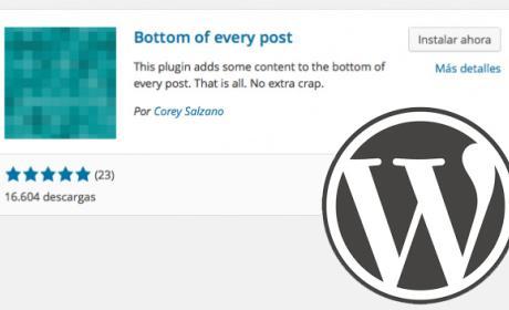 Firma en entradas de Wordpress
