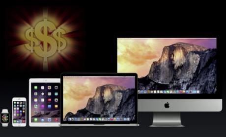 Precios de iPad, iPhone, MacBook y iMac