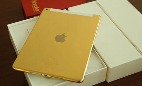 Así luce el nuevo iPad Air 2 de oro de 24 quilates