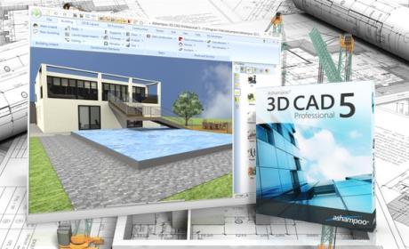 Ashampoo 3D CAD Professional 5, diseño profesional CAD aplicable al diseño arquitectónico de edificios y jardines.