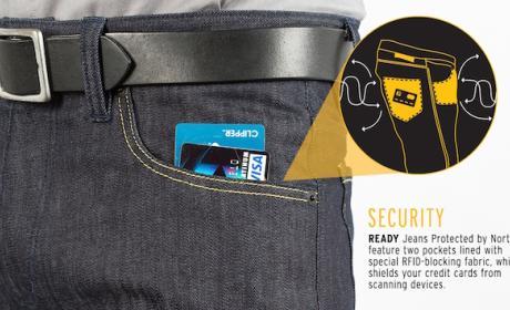 Pantalones que evitan el robo de las tarjetas contactless