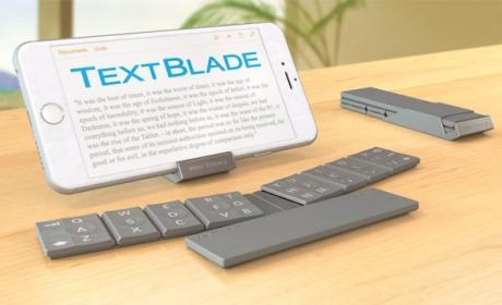 TextBlade, un teclado portátil para móviles y tablets Apple