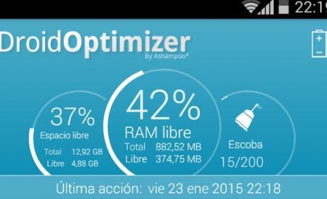 Ashampoo Droid Optimizer, más memoria y batería en tu móvil.
