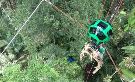 Google Street View usa tirolinas para captar el Amazonas