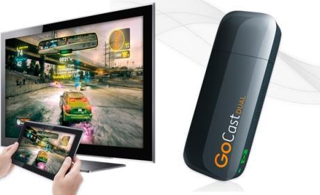 TenGO! GoCast Dual Miracast, tus vídeos, música y juegos del smartphone y la tablet, en la tele, sin cables, en streaming.