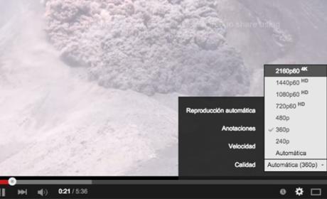 Youtube alta resolución