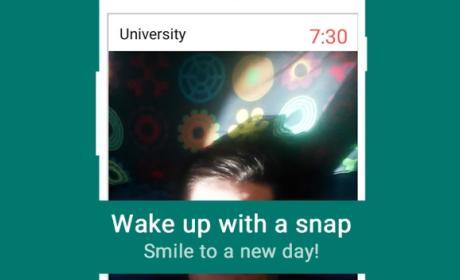 despertador selfie
