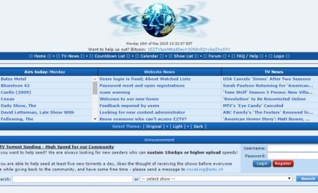 EZTV, el tracker de series P2P víctima de un scam, no es seguro.