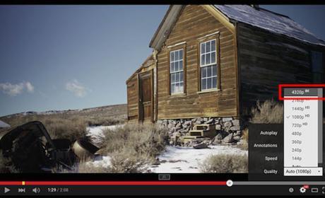 El 4K está extinto. Youtube permitirá alojar vídeos en 8K