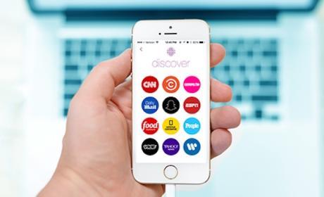 Snapchat pone énfasis en su sección Descubre
