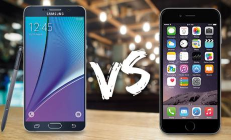 iPhone 6 Plus vs Samsung Galaxy Note 5. ¿Quién ganará?