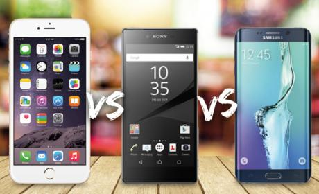 Comparativa Xperia Z5 Premium vs iPhone 6 Plus vs Galaxy S6 Edge+