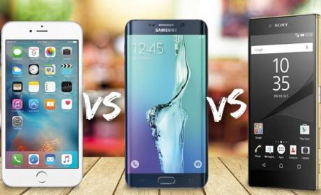 comparativa iphone samsung sony