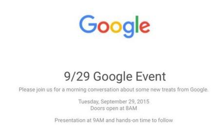 Google presentará los nuevos Nexus 5 y 6 el 29 de septiembre.