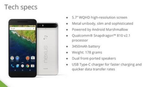 Nexus 6P de Google y Huawei: características, especificaciones y fotos oficiales