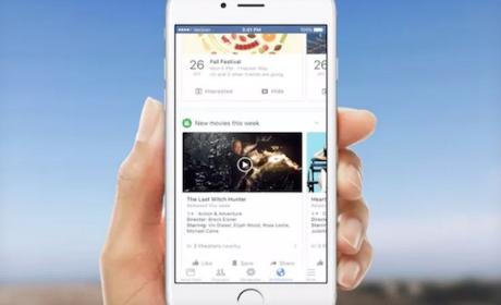 Facebook utiliza tarjetas de notificaciones tipo google now