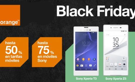 Black Friday en Orange, rebajas en tarifas y en los Xperia
