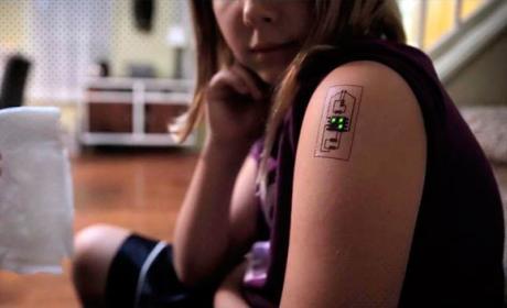 Tatuajes electrónicos para controlar la salud o la ubicación