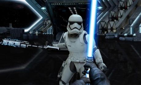 juego chrome star wars, espada laser movil, espada laser guerra galaxias