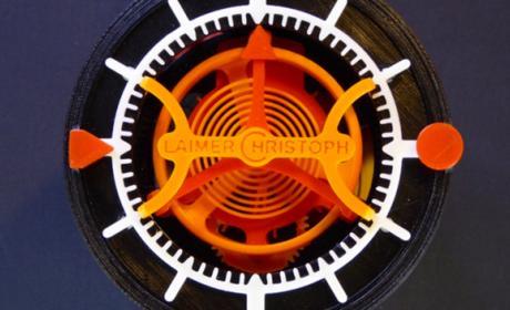 reloj mecánico fabricado impresión 3D