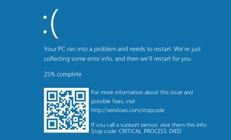Los códigos QR llegan a la 'pantalla azul' de Windows 10