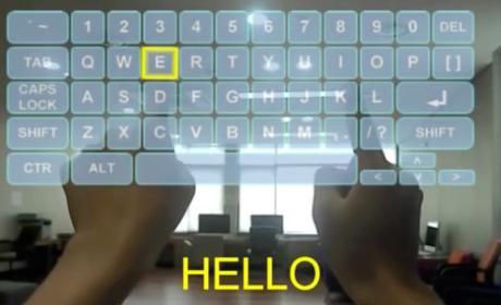 gafas inteligentes con teclado