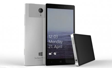 Imagen no oficial del Surface Phone