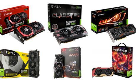 Todas las nuevas GTX 1080 del mercado