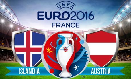 ver online por Internet Islandia vs Austria de la Eurocopa 2016