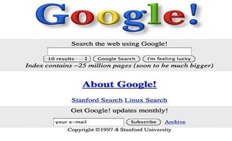 Así eran Youtube, Google o Facebook cuando se crearon