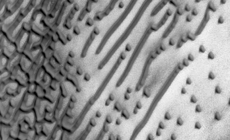 La superficie de Marte esconde un mensaje en código Morse