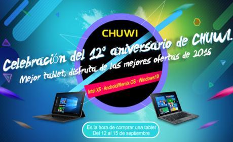 Chuwi celebra su 12º aniversario regalándote tus compras