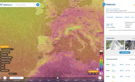 Este mapa muestra las condiciones climáticas en tiempo real