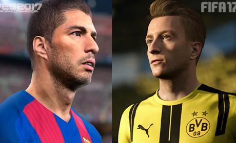 PES 17 vs FIFA 17