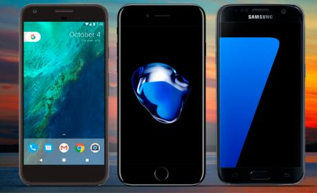 pixel vs iphone, google pixel vs iphone 7, pixel vs galaxy s7, google pixel vs samsung galaxy s7