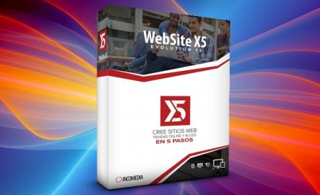 WebSite X5 Evolution 13, crea webs, blogs y tiendas en cinco pasos