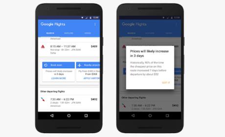 Google te avisa cuándo comprar tu vuelo más barato