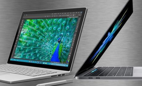 MacBook Pro vs. Surface Book, choque de titanes