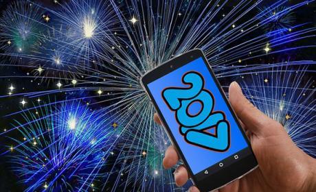 Tarjetas postales animadas felicitar Año Nuevo
