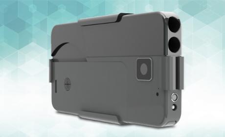 Pistola que simula un iPhone