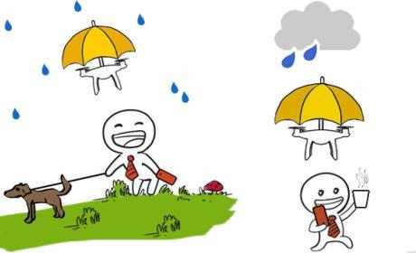 Paraguas dron