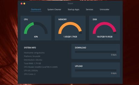 Este programa llamado Stacer te permite optimizar el funcionamiento de Ubuntu